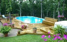 pool patio ideas above ground pool