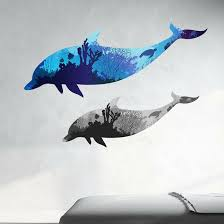 Style And Apply Coral Dolphins Wall Decal Wayfair