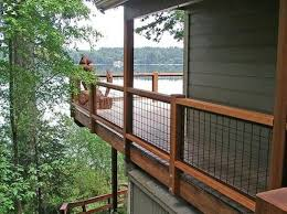 Hogwire Deck Railing Ideas Hog Wire French Creative Rustic Unique Home Elements And Style Contemporary Wood Lattice Horizontal Privacy Stair Crismatec Com
