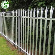 Anti Rust High Security Fencing Hot Dipped Galvanized Steel Palisade Fence Price Buy Palisade Fence Price Galvanized Steel Picket Fence Solid Steel Fence Product On Alibaba Com