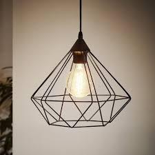 eglo tarbes black cage pendant light