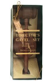 walnut gavel set in gift box includes