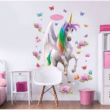 Wt45996 Magical Unicorn Large Character Wall Stickers By Walltastic