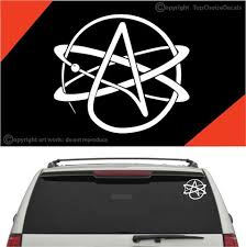 Atheist Symbol Auto Decal Car Sticker Topchoicedecals