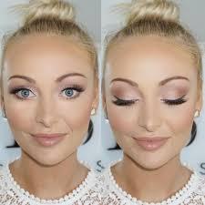 bridal makeup blonde blue eyes