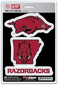 Amazon Com Ncaa Arkansas Razorbacks Team Decal 3 Pack Sports Outdoors