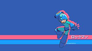 mega man 8 bit minimalist pixel art
