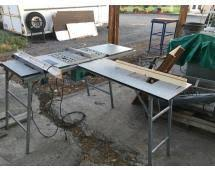 Lot 1505job Site Saw W Makita 2708 Table Saw Saw Stand Fence Table Extentions Bosch Md 11617evc Router Nice Unit