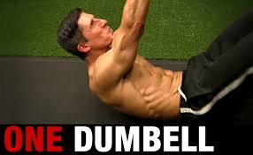 how to work your abs with a dumbbell