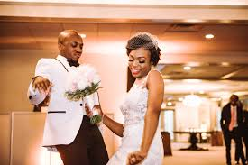 modern deco black tie wedding