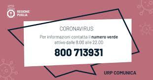 Coronavirus in Puglia, positivi moglie e fratello del 33enne di ...