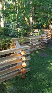 Western Red Cedar Stack Rail Fence Installation Rustic Portland By Hoover Fence Company
