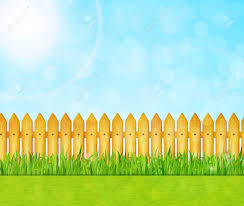 Garden Background With Green Grass And Wooden Fence Vector Royalty Free Cliparts Vectors And Stock Illustration Image 59803762