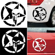 2020 13x13cm The Punisher Skull Auto Car Sticker Pentagram Vinyl Decals Motorcycle Truck Window Car Sticker From Dlingh 2 02 Dhgate Com