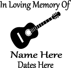 Car Truck Graphics Decals In Loving Memory Guitar Music Custom Vinyl Decal Sticker Car Truck Home Window Auto Parts And Vehicles