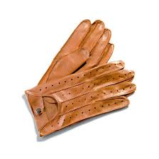 men s leather driving gloves in tan