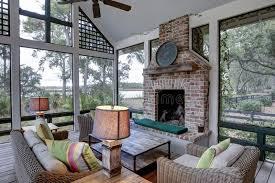 luxurious three season screen porch