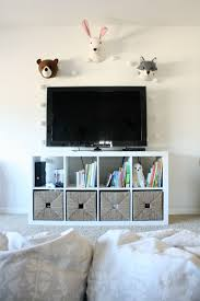 Playroom Makeover With Built Ins Crazy Wonderful Tv Stand Decor Kids Tv Room Ikea Tv Stand