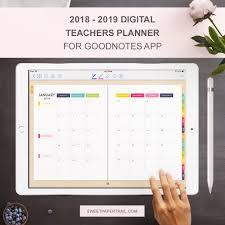 2018 - 2019 GoodNotes Digital Teacher Planner For Ipad - Sweet Paper Trail