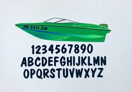 Custom Boat Decal Sticker Registration Number 2 Stickers Etsy