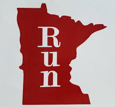 Run Minnesota Sticker Car Decal Choice Of Color Free Shipping