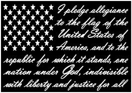 Amazon Com American Flag Pledge Of Allegiance Vinyl Truck Window Sticker Decal Clothing