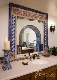 spanish tiled bath mediterranean