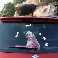 Cartoon Decoration Car Stickers Cute Shar Pei Sand Dog Moving Tail Rear Wiper Blade Decal Auto Reflective Sticker Car Styling Car Stickers Aliexpress