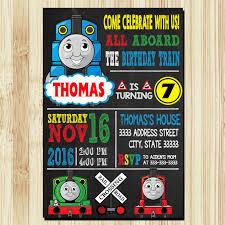 Invitaciones De Tren Thomas Thomas Train Cumpleanos Por Ulyaqonita