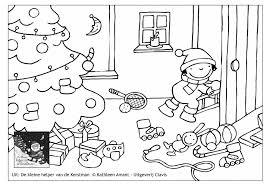 Kleurplaat De Kleine Helper Van De Kerstman C Kathleen Amant