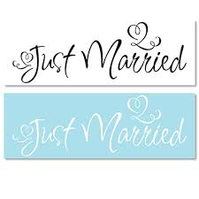 Amazon Com Just Married Wedding Sign Car Truck Vehicle Vinyl Decal Sticker Jm1 Handmade