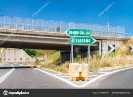 Salerno Reggio Calabria interstate highway signs and directions, — Stock  Photo © jovannig #158216160