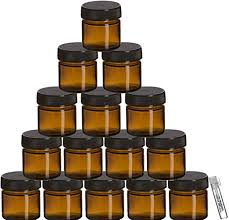 amber glass jar set with airtight