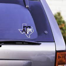 Texas A M Lone Star Texas Flag Car Decal Navy Maroon White Aggieland Outfitters