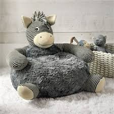 Tag Zebra Plush Chair Modern Natural Baby
