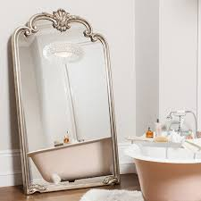 extra large abby mirror with silver