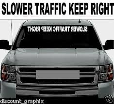 Move Over Reverse Cut 4 X40 Decal Letters Car Window Windshield Personalized Rainbowlands Lk