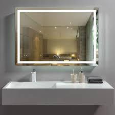 bathroom wall mirror anti fog lighted