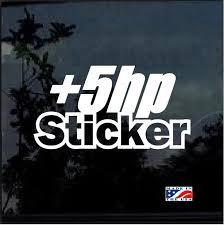 Plus 5 Hp Jdm Car Window Decal Stickers Custom Sticker Shop