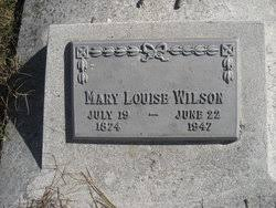 """Marie Louise """"Mary"""" Avis Wilson (1874-1947) - Find A Grave Memorial"""