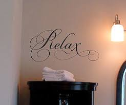 Relax Simply Words Beautiful Wall Decals