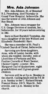 Obituary for Ada Johnson (Aged 83) - Newspapers.com
