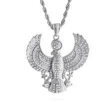 necklace color gold titanium steel