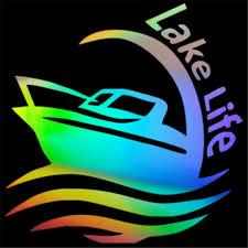 Lake Life Water Boat Wall Home Glass Door Window Car Sticker Laptop Auto Truck Car Stickers Aliexpress