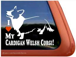 I Love My Cardigan Welsh Corgi Dog Vinyl Window Decal Sticker Robert L Blackert