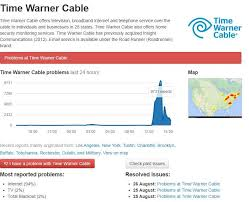time warner cable service is down and