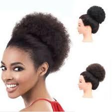afro hair bun curly ponyl puffs