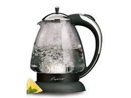 capresso h2o plus glass water kettle