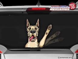 Winston The Great Dane Dog Decal Wipertag For Rear Windshield Wiper Wipertags