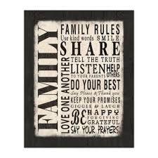 Family Rules Canvas Wall Art Bed Bath Beyond